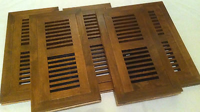Decor Grates 4-Inch by 10-Inch Wood Flushmount Floor Register (Set of five/5)