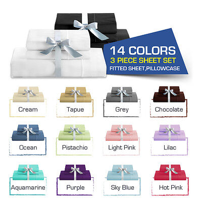 SINGLE-KING Single-DOUBLE-QUEEN/KING Bed FITTED SHEET(Fitted & Pillowcases)