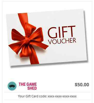 Gift Voucher $50 For Retro Gaming Website The Game Shed