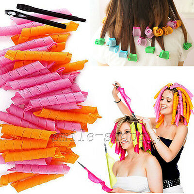 "40pcs Hot Sale 21"" Magic Curlers for Curly Hair DIY No Heat Cheap Tools"