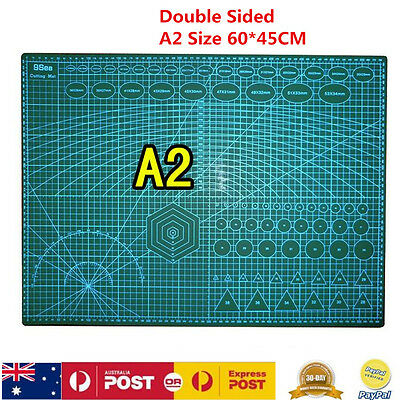 A2 PVC Self Healing Cutting Mat For Craft Quilting Grid Lines Printed Grid Board