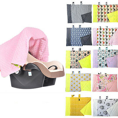 Baby Newborn Infant Soft Blanket Nursing Car Seat Canopy Cartoon Pattern Cover