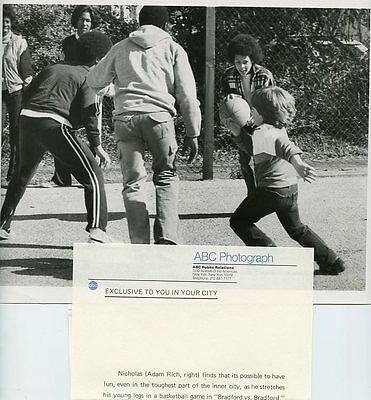 Adam Rich Playing Basketball Eight Is Enough Original 1980 Abc Tv Photo