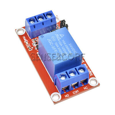 1-Channel DC 24V Relay Module with Optocoupler H/L Level Trigger for Arduino
