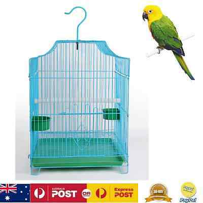 Bird Cage Parrot Aviary Canary Budgie Finch Pet Iron Wire Portable Carrier