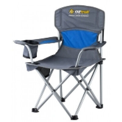 NEW Oztrail  Junior Deluxe Arm Chair - in Blue - Camping Chairs & Beds