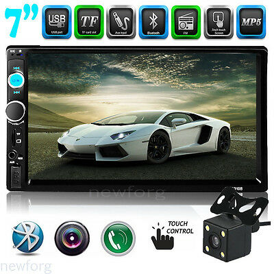 "7"" 2 DIN HD Bluetooth Touch Screen Car Stereo Radio FM/MP5/MP3 Player Camera 603"