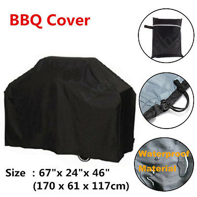 """67"""" BBQ Cover Waterproof Garden Gas Dust Rain Grill Housses Protector Cover"""