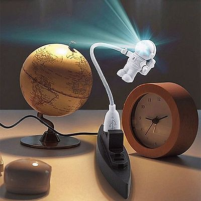 Flexible Astronaut LED USB Night Light Mini Lamp for Laptop PC Notebook Reading