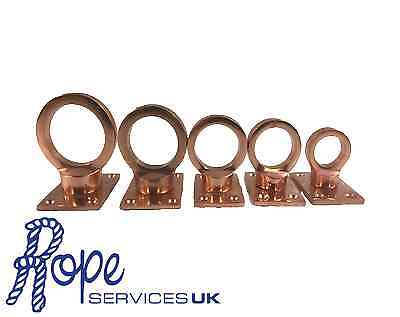 Copper Bronze Decking Rope Eyeplates To Suit 20mm-36mm Rope, Garden, Fittings