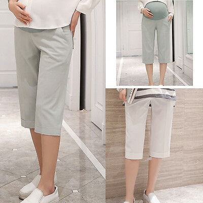 Maternity Pregnancy Pants Casual Trousers Over Bump Panel Joggers size 10 12 14