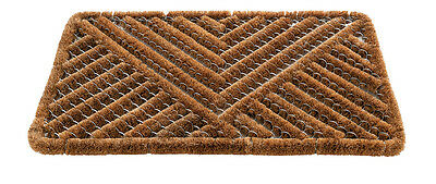 Gardman Door Mat Brown Boot Scraper Coir Bristles Durable Outdoor Use 45 x 75cm
