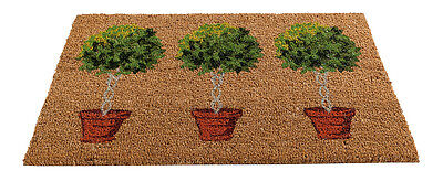 Gardman Insert Door Mat Bay Tree Tough Coir Pile 45x75cm Indoor Outdoor Rug