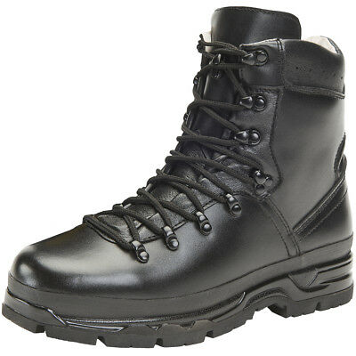 Brandit BW Mountain Boots Leather Hiking Tactical Outdoor Mens Footwear Black