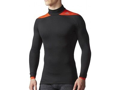 Authentic ADIDAS Tech-Fit ClimaHeat 2.0 Long Sleeve Mens Mock Compression Top