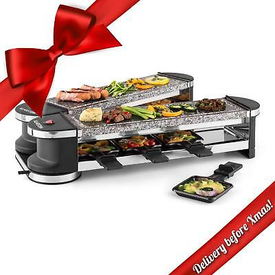 Klarstein Tenderloin 100 Raclette Grill 1200W 8 Persons 2 X Natural Stone Slabs