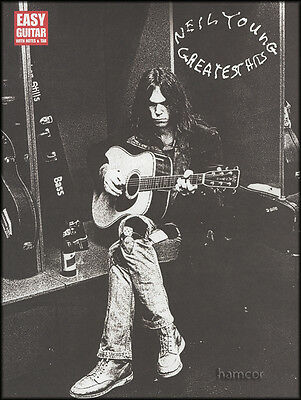 Neil Young Greatest Hits Easy Guitar TAB Music Book