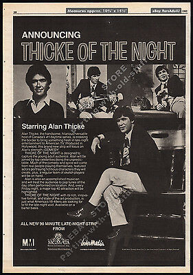 Alan_THICKE OF THE NIGHT__Original 1983 Trade Print AD_TV series promo_talk show