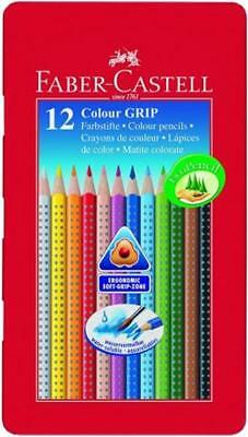 12 x FABER CASTELL FARBSTIFTE COLOR GRIP IM METALLETUI TOP!!!!