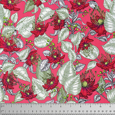 £12.50 per M-Free P/&P WINE FreeSpirit Amy Butler ROSE VINE 100/% Cotton Fabric