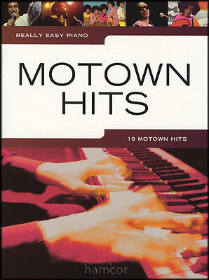 Really Easy Piano Motown Hits Sheet Music Book Pop Soul 60's