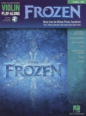 Frozen Violin Play-Along Sheet Music Book with Audio Download
