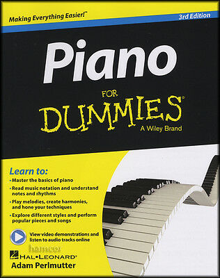 Piano for Dummies 3rd Edition Music Book/DLC Learn How to Play Beginner Method