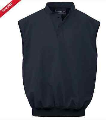 Proquip Aqua Soft Navy Men's Wind Vest - XXL - Golf - AquaSoft - Pro Quip - Wind