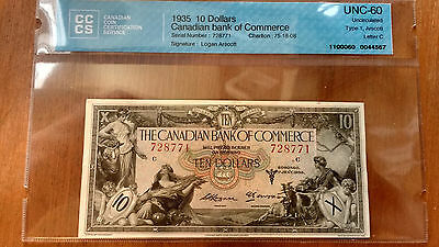1935 Canadian bank of Commerce 10$ 4 consecutive 728771-774