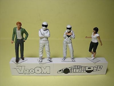 4  Figurines  Set 274  White  Stig  Family   Vroom  1/43  No Spark