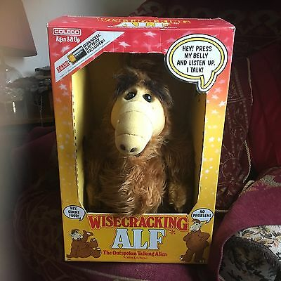 "Vintage Boxed Wisecracking Talking Alf 18"" Soft Toy Plush 1987 Tv Series Working"
