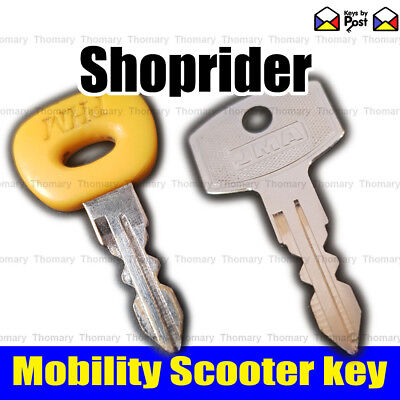 SHOPRIDER Spare Mobility Ignition on off key PARIS CORDOBA MIKRA & many more