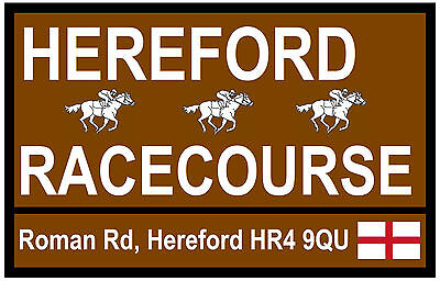 Horse Racing  Tourist Signs (Hereford) - Fun Souvenir Novelty Fridge Magnet Gift