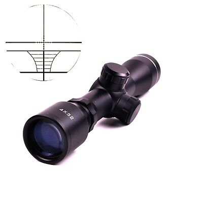 Tactical Telescope 4 x 32 Air Rifle Reticle Sight Scope with 20/11mm Ring Mount