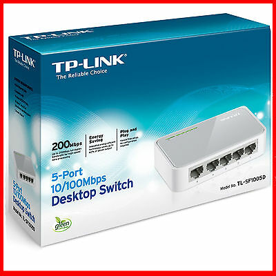 5 Port Ethernet Switch LAN Splitter Fast Network Hub 10/100Mbps Unmanaged Deskto