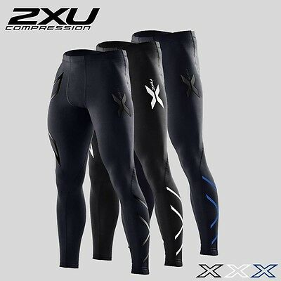 2XU Men Compression Tight Skin Long Sports Pants (4 colors available)