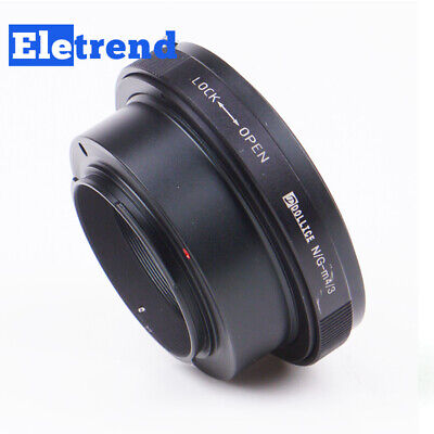 PRO Built-In Iris Control Nikon F Mount G Lens to Micro Four Thirds 4/3 Adapter
