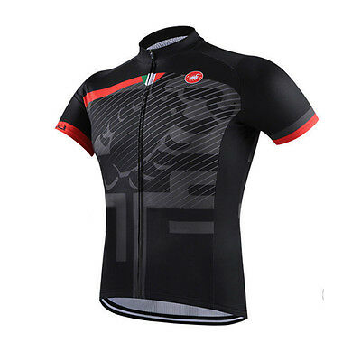 New Mens Cycling Short Sleeve Clothing Tops Riding Jersey 3 Pockets Soft Wear