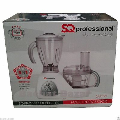New 5 in 1 Electric Multi 500W SQPro Kitchen Blitz Food Processor