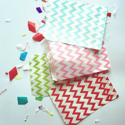 25Pcs Colorful Stripe Printed Grease Proof Paper Packaging Candy Gift Bags