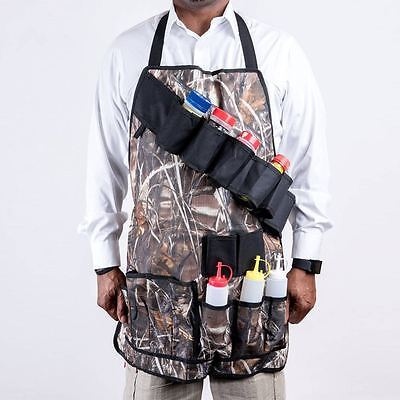 Outdoor Multipocket Camouflage BBQGrill Apron CampingPicnicCondiment Holder