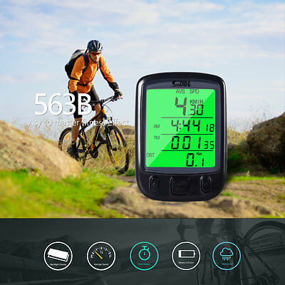 Cycle Bicycle Bike LCD Computer Odometer Speedometer With Backlight FX
