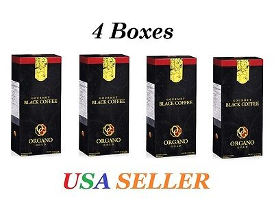 4Boxes ORGANO GOLD GOURMET BLACK COFFEE w/ GANODERMA LUCIDUM FREE EXPEDITE SHIP!