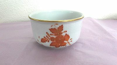Antique Herend Porcelain Mini Bowl, Chinese Bouquet Rust, Hungary, 1915-1930