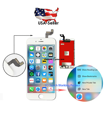 """US White For iPhone 6S 4.7"""" Replacement LCD Display Screen Touch Digitizer"""
