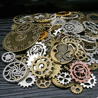DIY Gears Accessories Vintage Old Parts Wheels Alloy Mixed Sizes Form Mechanical