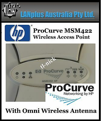 HP Procurve J9359B MSM422 Wireless a/b/g/n POE MultiService AP with Omni Antenna