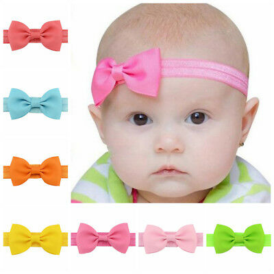 20 Pcs/lot Girl Hair Bow Headband Elastic Hair Bands Newborn Infant Toddler Lot
