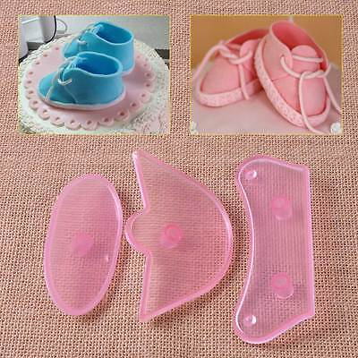 Birthday Cake Decorating Baby Shoes Mould Cutter Tool Fondant Icing Sugar Craft