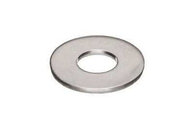 18-8 Stainless Steel Flat Washer #10 ID x 0.500 OD , Qty 100 pcs Pack